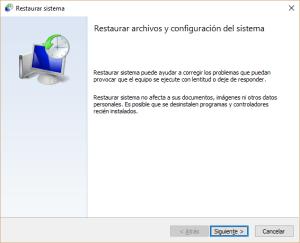 Cómo restaurar tu sistema en Windows 10
