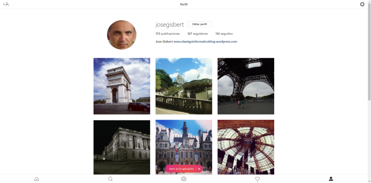 Instagram en PC