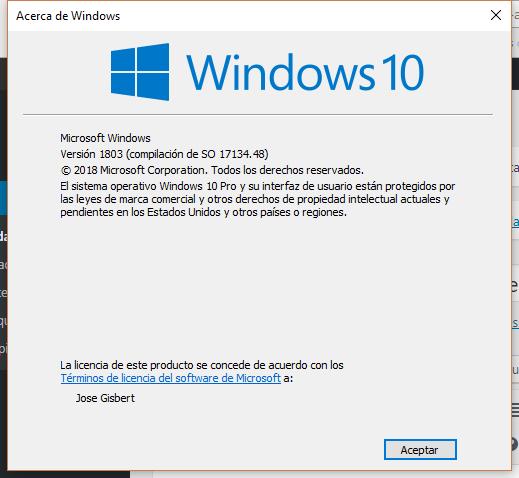 Versión de Windows