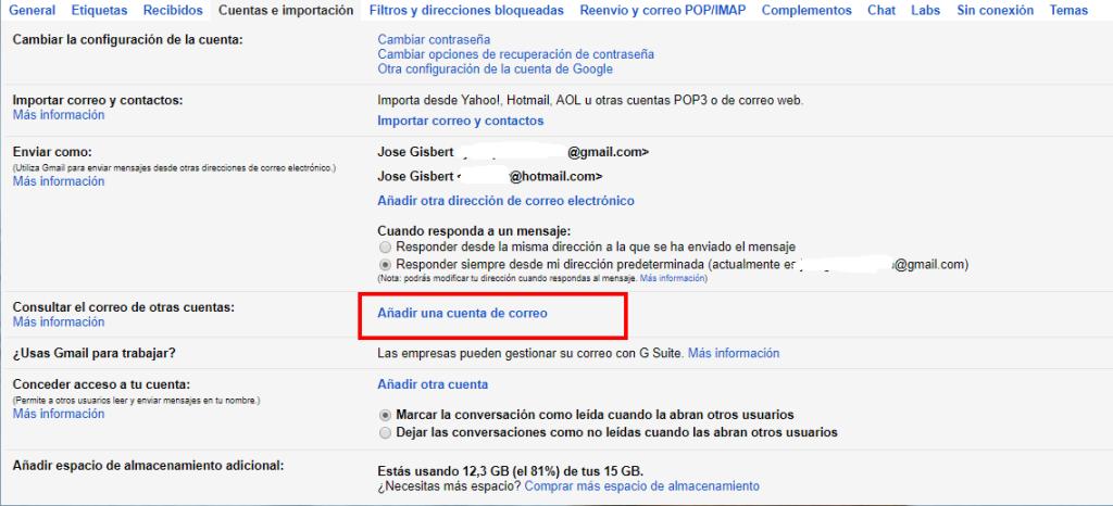 configurar gmail para cuentas de dominio