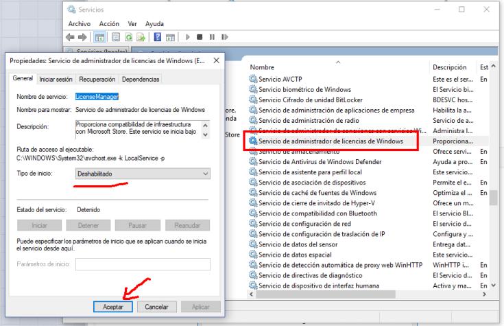 servicio de licencias windows