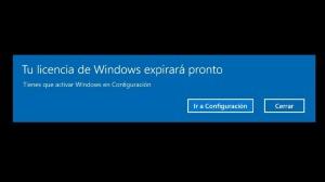 Tu licencia de Windows 10 va a expirar