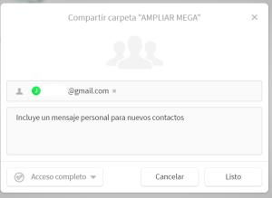 compartir carpeta de MEGA 2