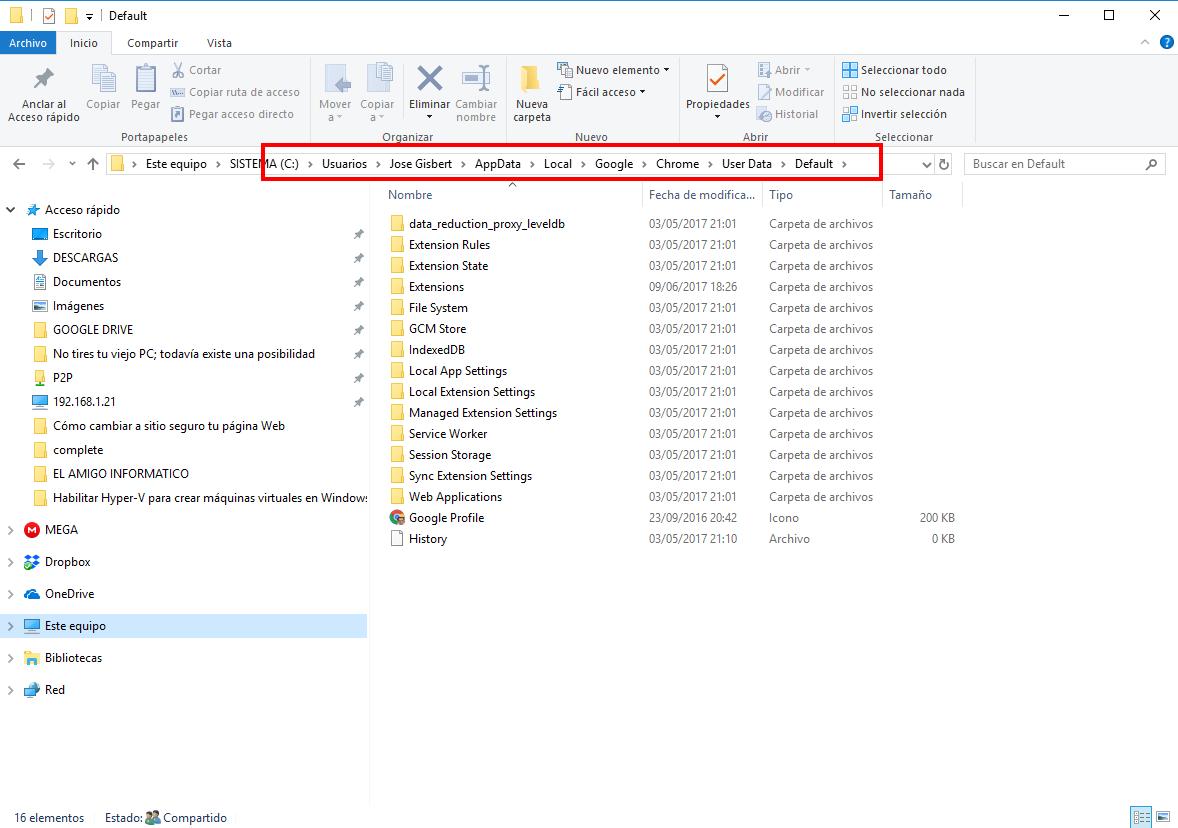 Cómo migrar la configuración de Google Chrome a otro PC
