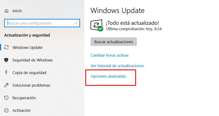 configuracion de windows