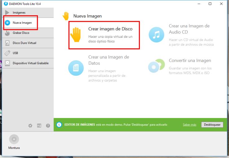 Crear imagen ISO en Windows 1