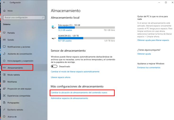 Cambiar ubicacion de archivos en Windows 10_2