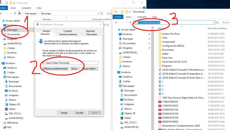 Cambiar ubicacion de archivos en Windows 10_4