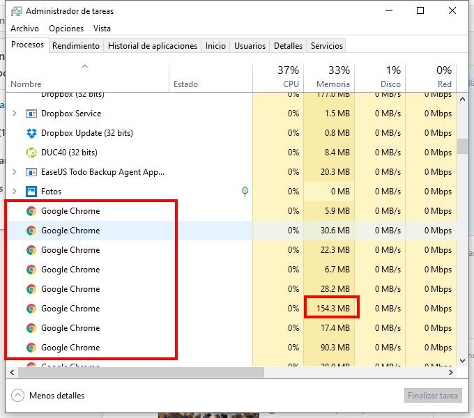 Si Chrome no se abre