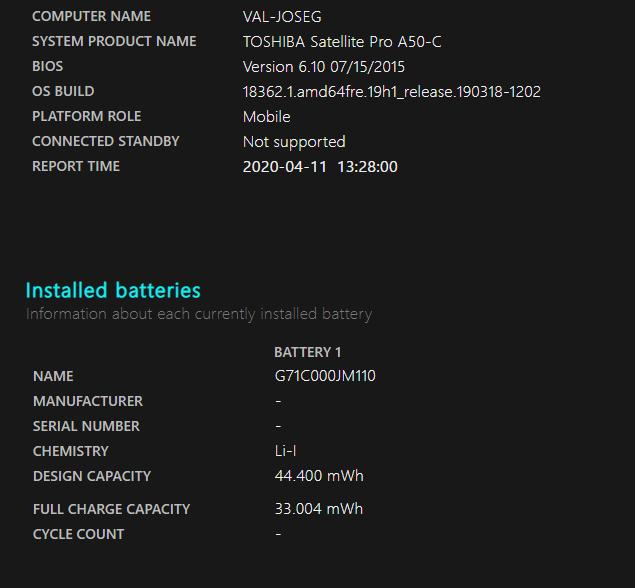 calibracion de la bateria 01