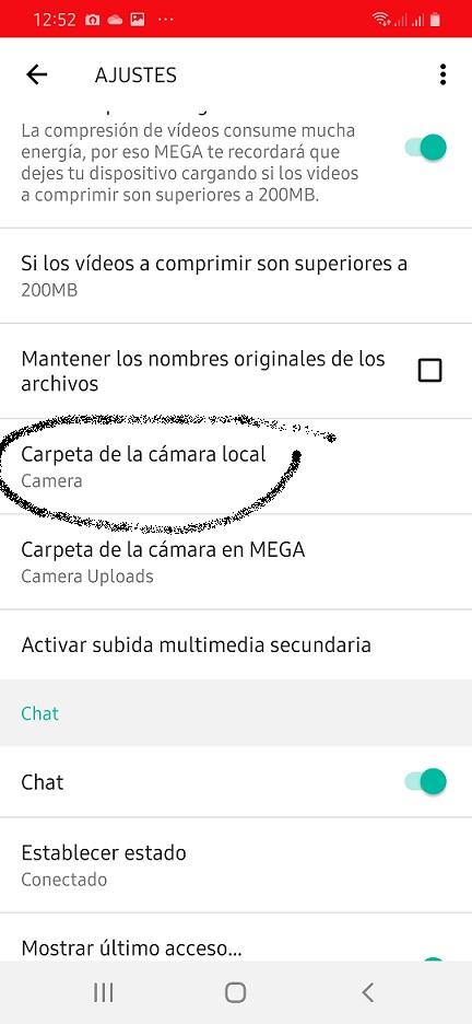 Copias de seguridad de fotos en MEGA 4