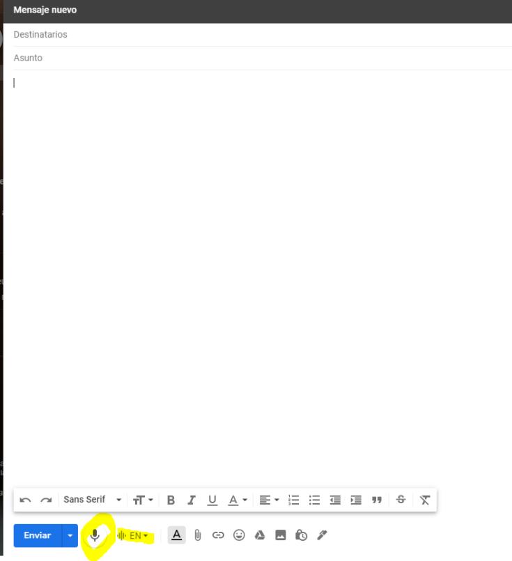 dictado con gmail
