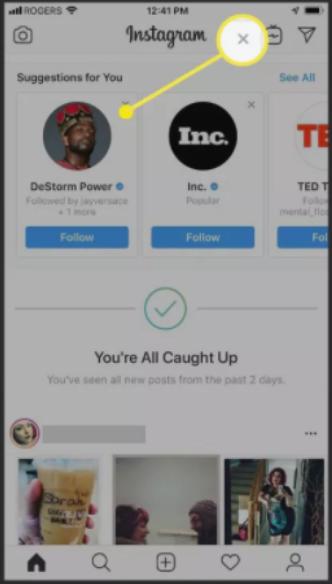 Como eliminar sugerencias de Instagram