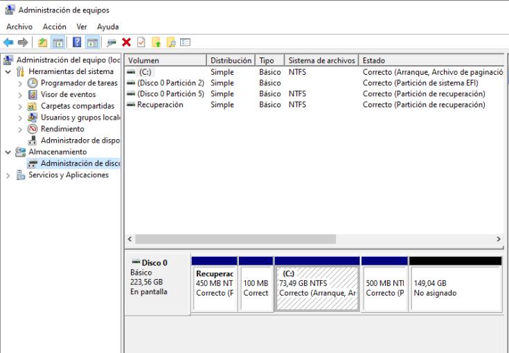 como eliminar una partición de un disco duro (3)