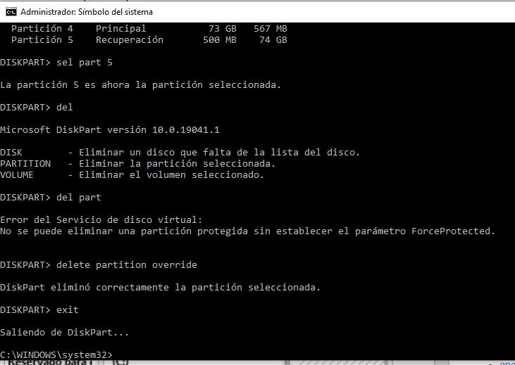 como eliminar una particion de un disco duro (3)