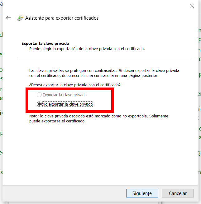 Exportar un certificado digital con clave privada no exportable_1